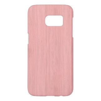 Regard du bois en bambou de grain de quartz rose coque samsung galaxy s7