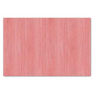 Regard du bois en bambou rose de corail de grain papier mousseline
