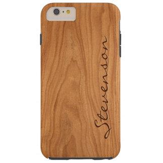 Regard du bois personnalisé - texture en bois de coque iPhone 6 plus tough