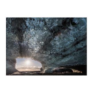 Regard d'une caverne de glace, l'Islande Art Mural En Acrylique