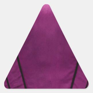 Regard élégant de tissu en soie de satin - ajoutez sticker triangulaire