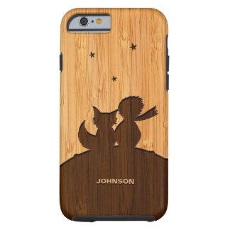 Regard en bambou et petit prince gravé Fox Pattern Coque Tough iPhone 6