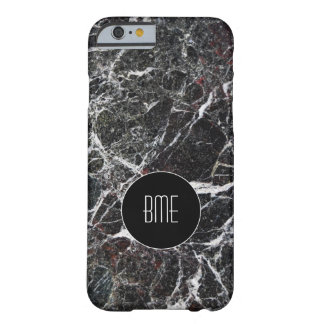 Regard en pierre de granit de monogramme coque barely there iPhone 6