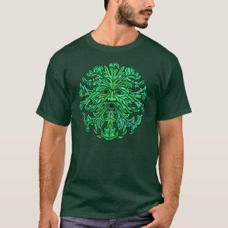 Regard fixe d'homme vert t-shirt