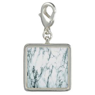 Regard foncé de marbre de veine de turquoise breloques avec photo