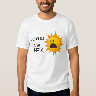 """""""Regard ! Je suis pièce en t d'AFK"""" - blanc T-shirt"""