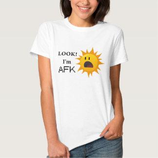 """""""Regard ! Je suis pièce en t d'AFK"""" - jaune T-shirt"""