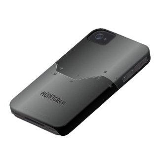 Regard métallique en aluminium balayé gris-foncé coque iPhone 4