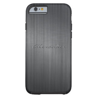 Regard-Monogramme en aluminium balayé par noir en  Coque Tough iPhone 6