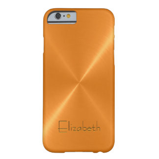Regard orange en métal d'acier inoxydable coque barely there iPhone 6