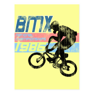 Regard usé des championnats 1986 de BMC Cartes Postales