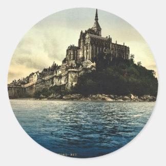 Regardant du nord-est les hautes eaux, St Michel Sticker Rond