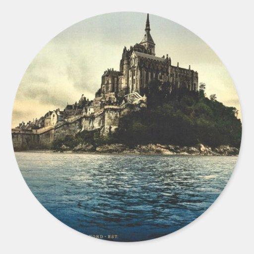 Regardant du nord-est les hautes eaux, St Michel Adhésif Rond