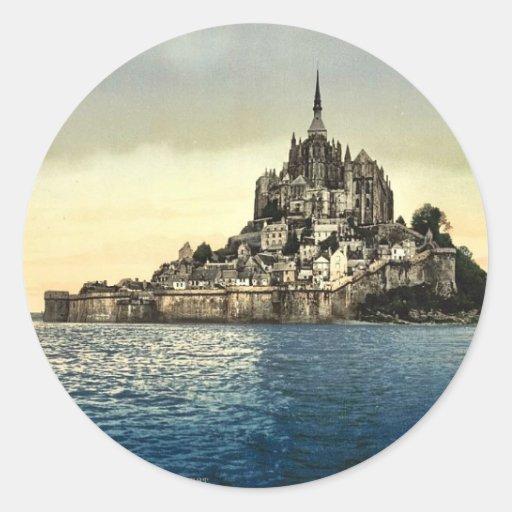 Regardant est les hautes eaux, St Michel, franc de Autocollants Ronds