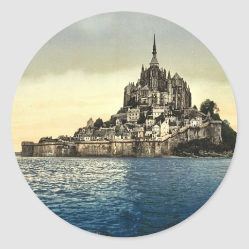 Regardant est les hautes eaux, St Michel, franc de Adhésif Rond