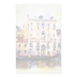 Regarde OD Venise faite dans l'aquarelle artistiqu Papier À Lettre Customisable