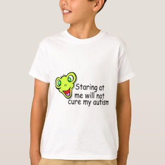 Regarder fixement moi ne me guérira pas autisme t-shirt