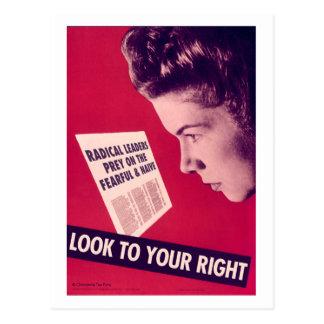 Regardez à votre carte postale droite