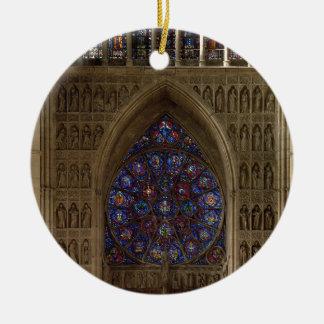 Regardez le regard occidental de la nef, desig de ornement rond en céramique