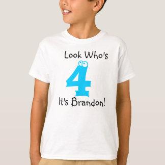 Regardez qui est T-shirt personnalisable de