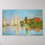 Régate à Argenteuil par Claude Monet Posters