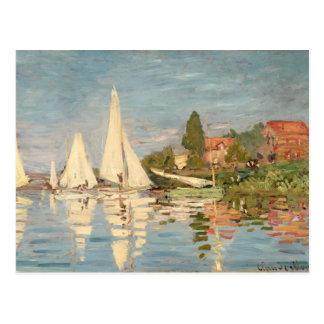 Régate de Claude Monet | à Argenteuil, c.1872 Carte Postale