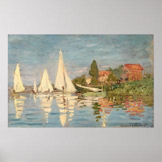 Régate de Claude Monet | à Argenteuil Poster