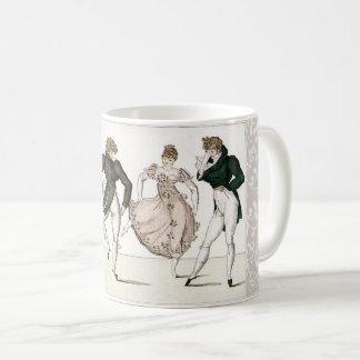 Regency vintage et tasse de période de Jane Austen