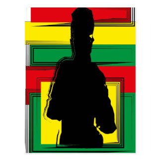 Reggae bobo art carte postale