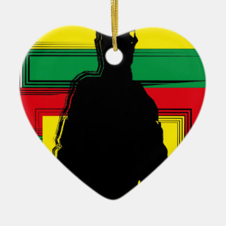 Reggae bobo art ornement cœur en céramique