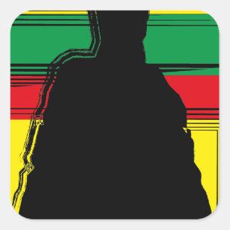 Reggae bobo art sticker carré