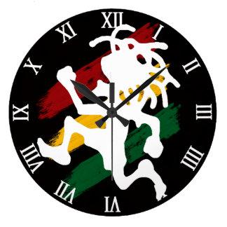 Reggae de Cori Reith Rasta Grande Horloge Ronde