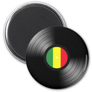 Reggae de vinyle magnet rond 8 cm