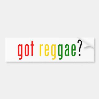 reggae obtenu ? autocollant pour voiture