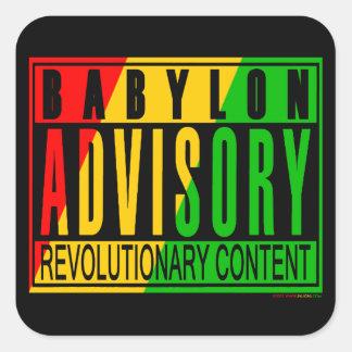 Reggae RASTA Autocollants Carrés