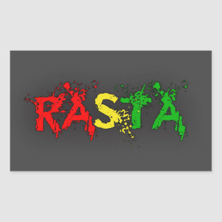Reggae Rasta Sticker Rectangulaire
