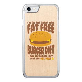 Régime non gras d'hamburger coque carved pour iPhone 7