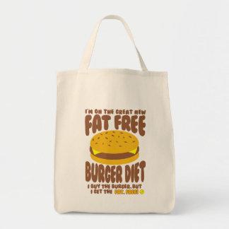 Régime non gras d'hamburger sac de toile