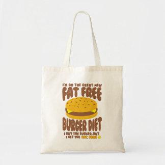 Régime non gras d'hamburger sac en toile