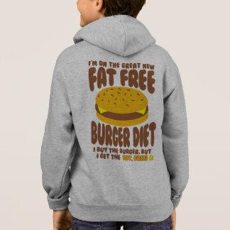 Régime non gras d'hamburger veste à capuche