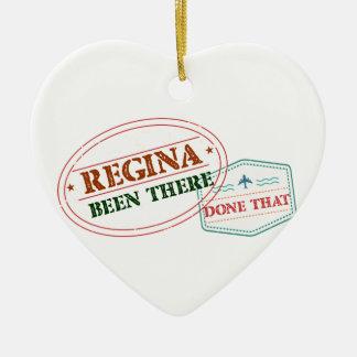 Regina là fait cela ornement cœur en céramique