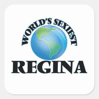 Regina la plus sexy du monde stickers carrés