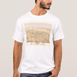 Région boisée, carte panoramique de CA (1874A) T-shirt