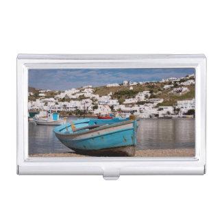 Région de port et de port avec les bateaux de boîtier pour cartes de visite