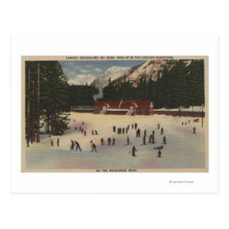 Région de ski de Snoqualmie, WA - vue de ski Carte Postale