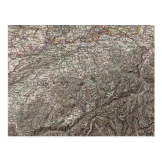 Région de sud-ouest de l'Allemagne Carte Postale