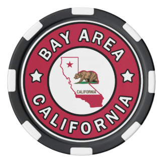 Région la Californie de baie Rouleau De Jetons De Poker
