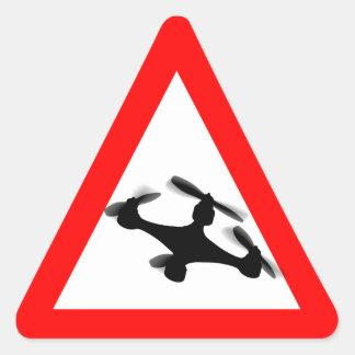 Région volante de bourdon d avertissement sticker en triangle