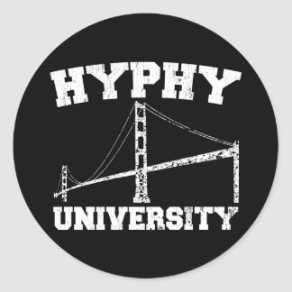 Région yay d'université de Hyphy Autocollants Ronds