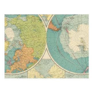 Régions polaires carte postale